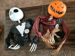 Disney Nightmare Before Christmas Poseable Hanging Props Jack And Pumpkin King