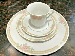 Lynns Melody Fine China 45 Piece Dinnerware Service For 8