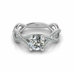 0.71 Ct Round Cut Real Diamond Solitaire Ring 14k Solid White Gold Size 6 7 8