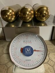 Set Of 3 Antique/vintage Grandfather Clock Weights Shells