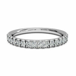 0.30 Carat Diamond Engagement Eternity Bands 18k Solid White Gold Womenand039s Bands