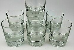 Vintage Crown Royal Low Ball Rocks Glasses Embossed Logo Weighted Bottoms Italy