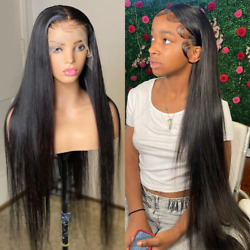 13x6 Hd Transparent Straight Front Lace Real Wig Brazil 40 Inch 2021