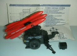Lot 1985 Sears Exclusive Gi Joe Cobra Red Sms Mobil Missile System W/ Blueprints
