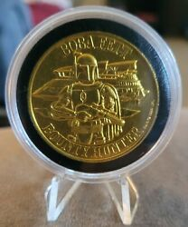 Vintage Kenner Star Wars Droids 1984 Boba Fett Coin Potf With Case And Easel
