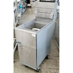 Pitco 45c Fryer, Natural Gas, 42 Pounds, Stainless Steel, 122,000 Btu, Casters