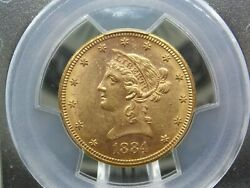1884 S 10 Gold Liberty Eagle Pcgs Ms61 989 East Coast Coin And Collectables