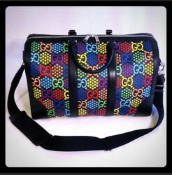 🔥new Unisex Psychedelic Duffle Travel Bag Carry On Weekend Bag