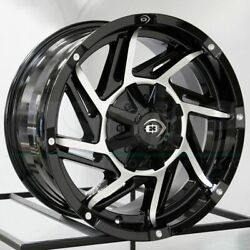 20x9 Black Machined Wheels Vision 422 Prowler 8x170 -12 Set Of 4 125.2
