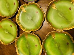 Anna Weatherley Set Of 10 Green Ivy Garland Bread And Butter Plates