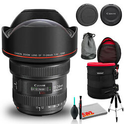 Canon Ef 11-24mm F/4l Usm Lens Bundle With Cleaning Kit, Filter Kits, And