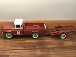 Vintage Nylint Ford Speedway Special Truck With Trailer Steel Good Condition
