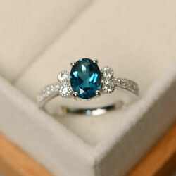 1.70 Ct Real Diamond Blue Topaz Wedding Band Solid 950 Platinum Ring Size 5 6 7