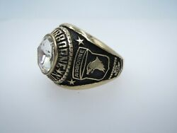 @real Solid 10k Gold Paratroopers 101st Airborne Division Ring Size 13