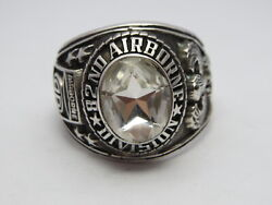 @ Silver 925 , 82nd Airborne Ring , America's Guard Honor , Army Ring,size 13