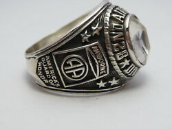 @ Silver 925 , 82nd Airborne Ring , America's Guard Honor , Army Ring,size 11.5