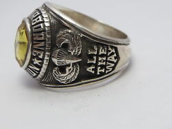 @ Silver 925 , 82nd Airborne Ring , America's Guard Honor , Army Ring,size 13.75
