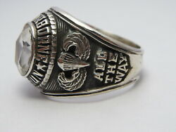 @ Silver 925 , 82nd Airborne Ring , America's Guard Honor , Army Ring,size 11