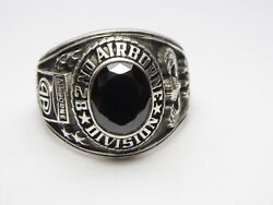 @ Silver 925 , 82nd Airborne Ring , America's Guard Honor , Army Ring,size 12.25