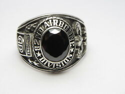 @ Silver 925 , 82nd Airborne Ring , America's Guard Honor , Army Ring,size 11.25