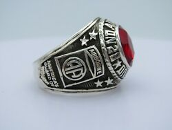 @ Silver 925 , 82nd Airborne Ring , America's Guard Honor , Army Ring, Size 12