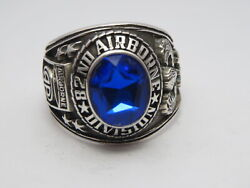 @ Silver 925 , 82nd Airborne Ring , America's Guard Honor , Army Ring,size 12.5