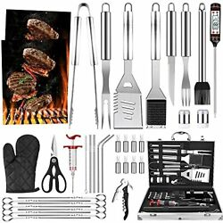 39pcs Bbq Grill Accessories Tools Set Stainless Steel Grilling Barbecue Case