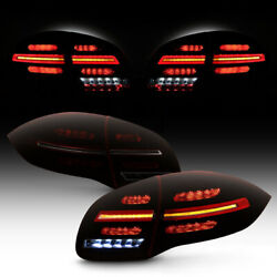 Red Smoke Lens Led Sequential Signal Tail Light For 11-14 Porsche Cayenne 958
