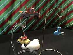 Hallmark Ornaments Luigi And Guido Race Fans 2008 And Secret Agent Mater 2011
