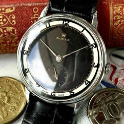 Rolex Marconi Black Dial 1950s Manual Winding Vintage Watch Antique F/s