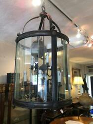 Antique Style Spanish Colonial Style Bronze Patinated Lantern Chandelier