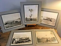 Antique Cabinet Photo Lot Of 5 The Pacific Telephone And Telegraph Co Linemen