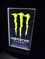 Rare Monster Energy Drink Sign Lit Dimmer Pop Neon Vintage Collectible