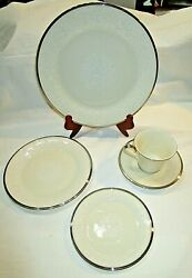 Moonspun By Lenox China, 5 Piece Place Setting For 4, Beautiful, Lot R33