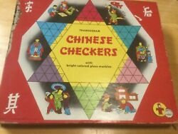 Chinese Checkers Vintage Board Game 1955 Transogram Games