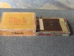 Vintage Cigar Boxes-lot Of 2- E1-rees-so Andalhambra- Great Condition