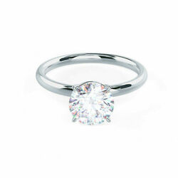 0.40 Ct Round Real Diamond Anniversary Ring For Women 14k White Gold Size 5 6 7