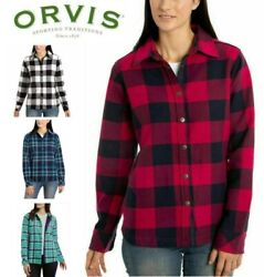 New Orvis Women's Fleece Lined Shirt Jacket Size And Color Variety