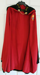 Knights Of Columbus Black Cape With Red Lining 4th Degree Patch