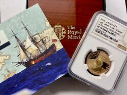 2019 Great Britain Gold £2 Captain Cook Ngc Pf70 Ucam