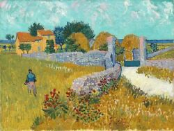 Image-art-print-farmhouse-in-provence-vangogh-47x35in-print-on-paper-canvas-str