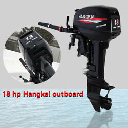 2 Stroke 18hp Outboard Boat Engine Motor Heavy Duty Water Cooling System 246cc