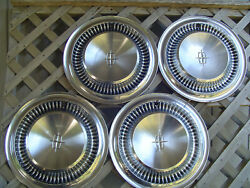 Four Vintage 1964 1965 Lincoln Continental Premier Town Car Hubcaps Wheel Covers