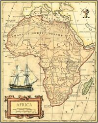 Art-print-africa-map-vision-27x35in-maps-map-world-antique-nautical-ship-shi