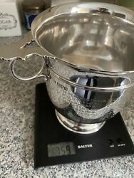 Solid Silver Ice Bucket Champagne Cooler Made In England London Hallmarks 759g
