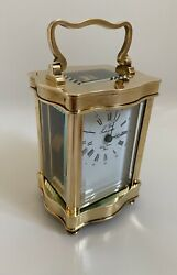 Top Quality French L'epee Serpentine Carriage Clock 8 Days Movement