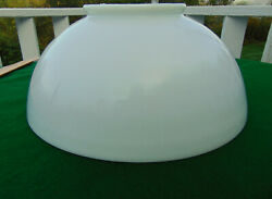 Antique Victorian Hanging Oil Lamp 14 Milk Glass Shade Nice A