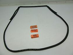 Fits Rogue Rear Back Door Panel Rubber Seal To Body Strip Clips Door Shell Right