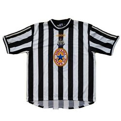 Newcastle United Brown Ale Nufc 1997/98 Football Home Shirt Black/white Size Xxl