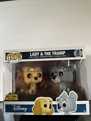 Funko Pop Disney Lady And The Tramp Hot Topic Exclusive Nrfb 2 Pack